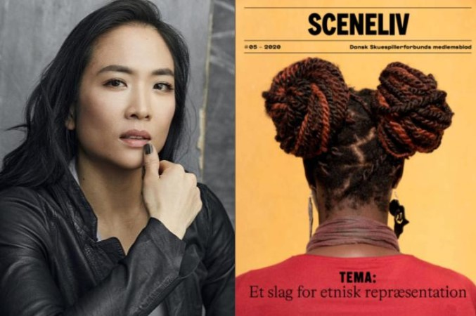 Sandra Yi Sencindiver and the cover of Sceneliv Magazine