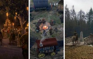 Collage of Concept Art from Amazon Wheel of Time most recent teaser