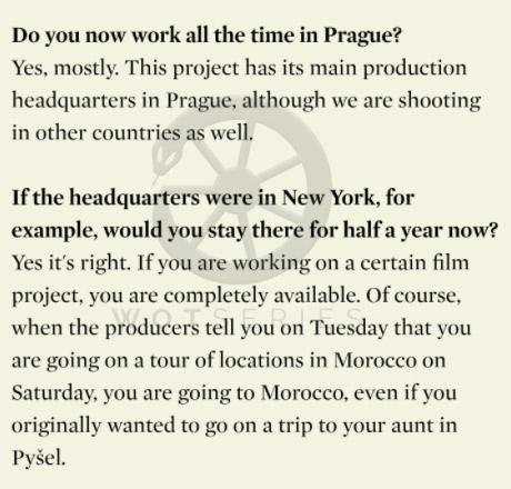 Snippet from interview with Wheel of Time Production Designer Ondřej Nekvasil