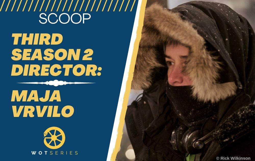 Article featured image, showing photo of director Maja Vrvilo along with the headline: Scoop - Third Season 2 Director Maja Vrvilo