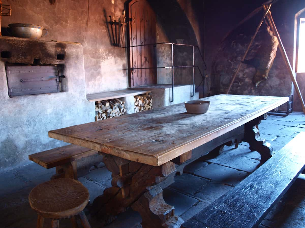 The Black Kitchen in Jindrichuv Hradec castle
